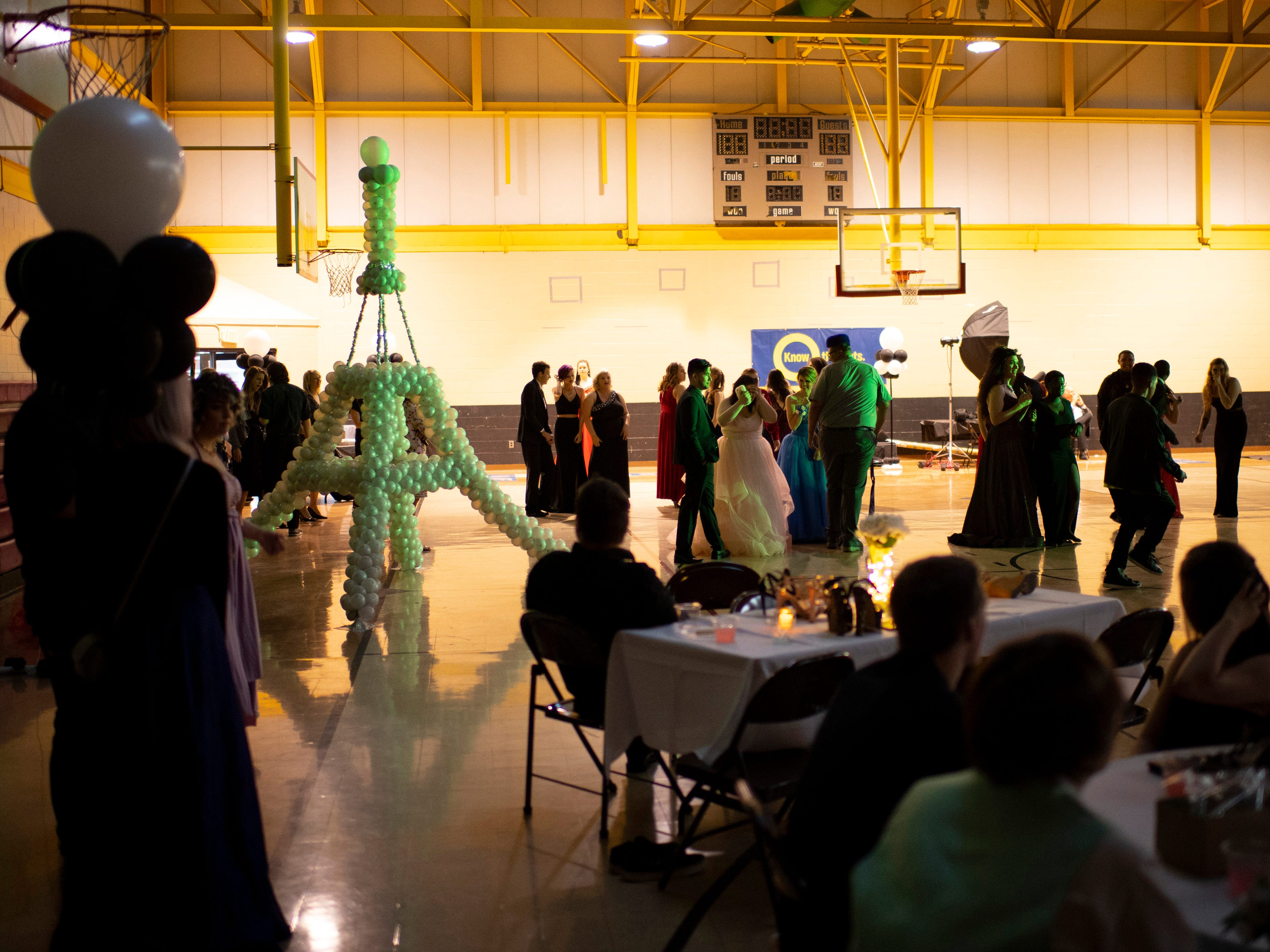 A Night in Paris was the theme at the Harwood Career Prep prom Saturday night.