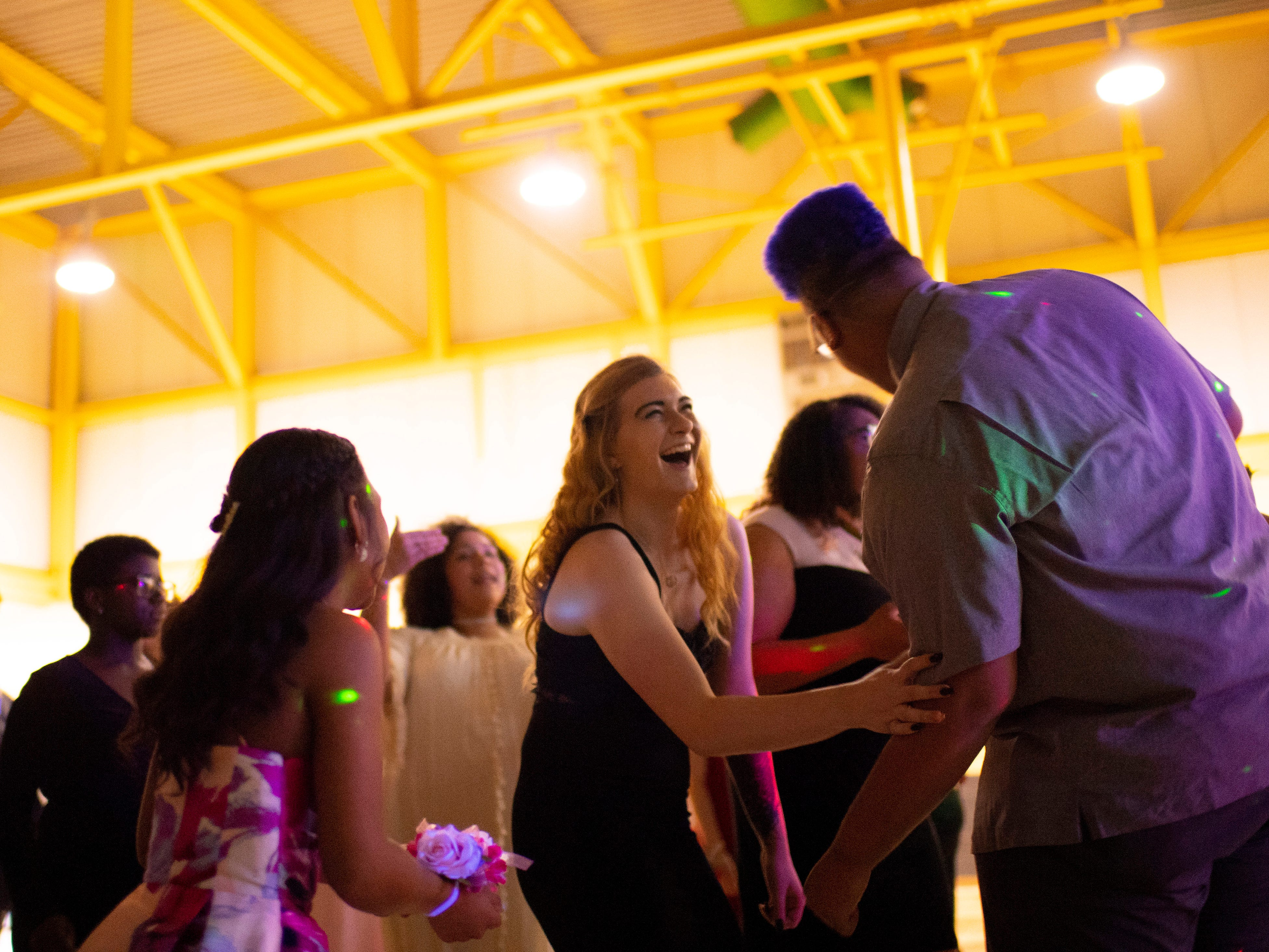 The dance floor is hopping at the Harwood Career Prep prom Saturday night.