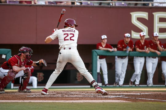 FSU junior third baseman Drew Mendoza is batting .290 to go along with 13 home runs and 38 RBI's.