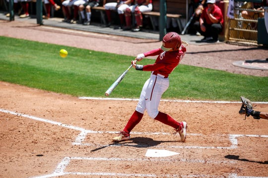 FSU sophomore infielder Sydney Sherrill has improved upon her success from last season.