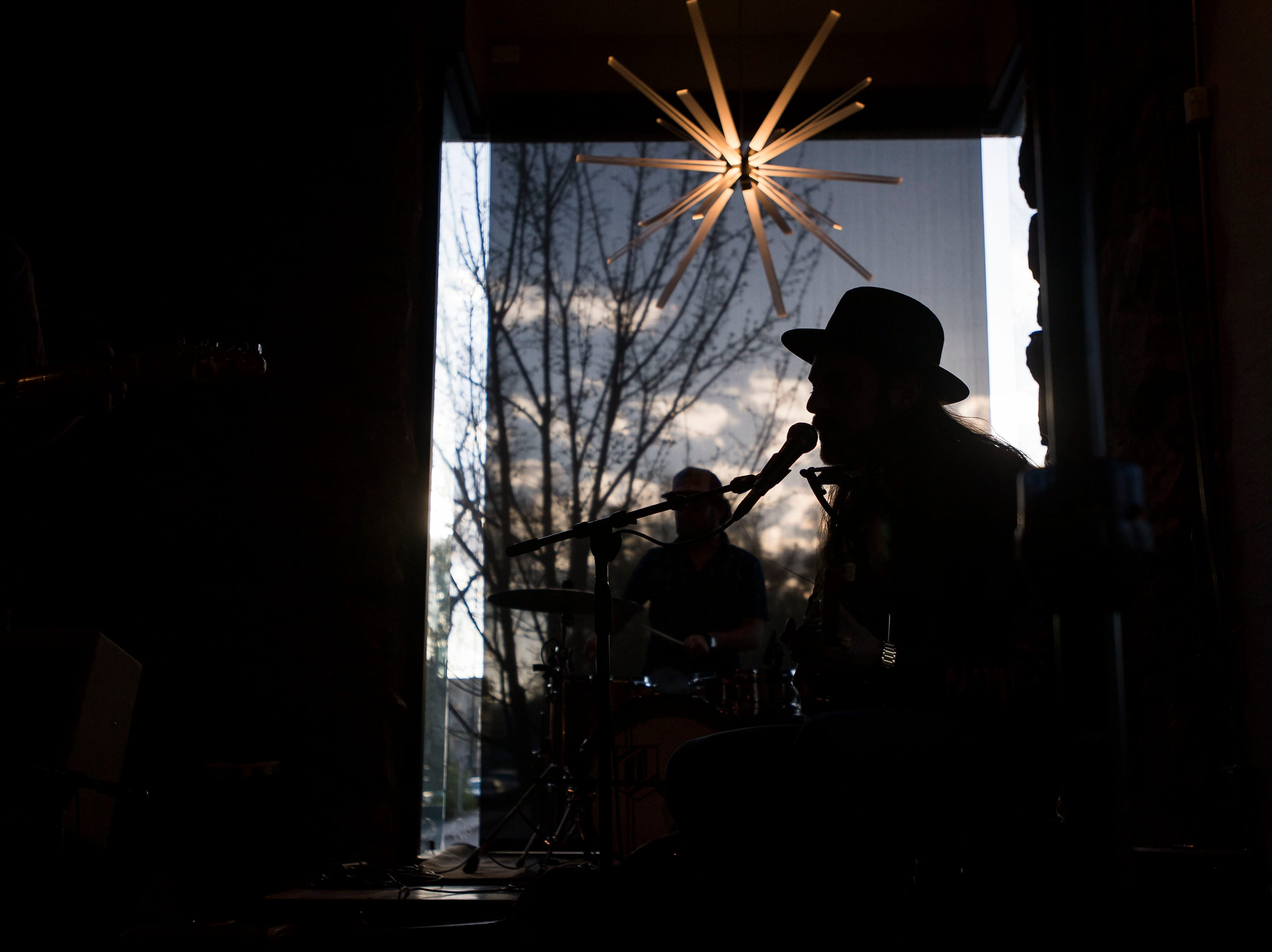 Grant Sabin and the Juke Joint Highball plays at The Mayor of Old Town during the FoCoMX XI music festival on Saturday, April 27, 2019, in Fort Collins, Colo.