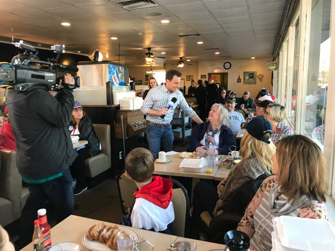 """""""Fox & Friends"""" correspondent Todd Piro interviewed Andrea Clements of Green Bay as part of a recurring """"Breakfast with Friends"""" segment."""