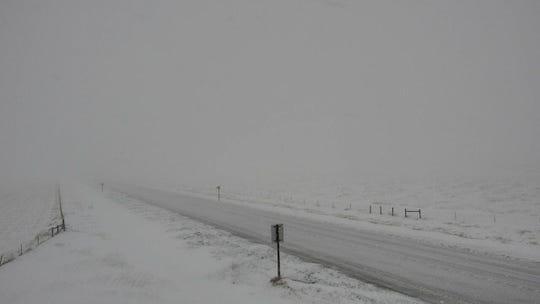 U.S. Highway 87 near Geyser.