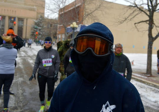 The Ice Breaker Road Race 5-mile run, Sunday afternoon in downtown Great Falls.