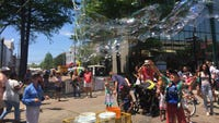 If you went to Festival International de Louisiane 2019, it's likely you saw this guy making gigantic bubbles