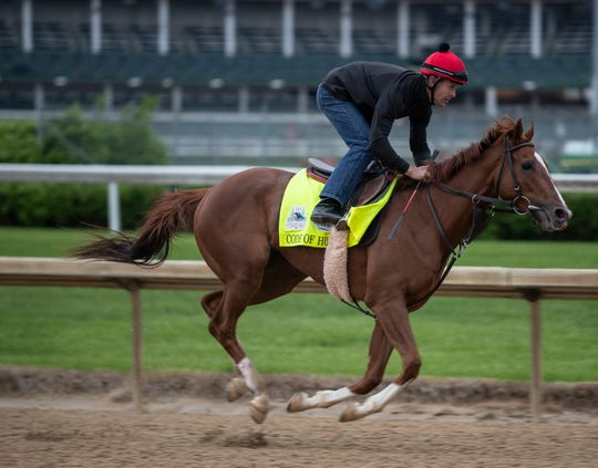 Code of Honor gets in final workout at Churchill Downs prior to the Kentucky Derby. April 28, 2019.