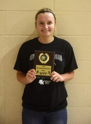 Norfork's Whitlee Layne was named the MVP of the North Arkansas Senior Showcase on Saturday night at Izard County High School.