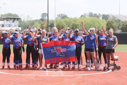 Louisiana Tech softball team swept Western Kentucky on ULM's field just days after its own stadium was decimated by an EF3 tornado this past Thursday.