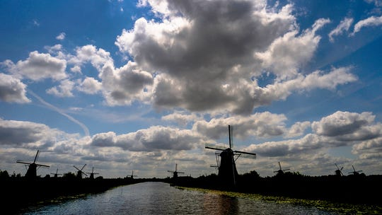 The windmills of Kinderdijk.