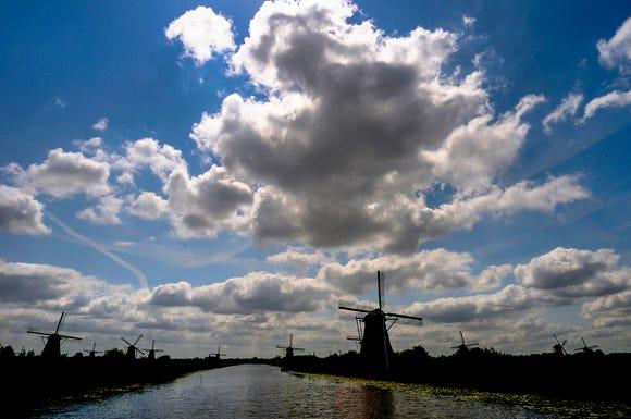 The windmills of Kinderdijk.