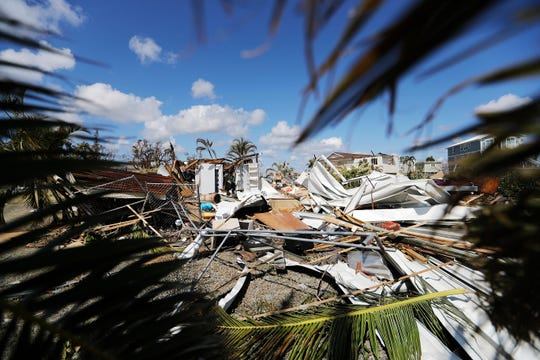 The remains of a house destroyed by Hurricane Irma in Goodland, Fla., on Sept. 12, 2017.