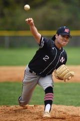 Ken Suzuki of Northern Highlands pitches the ball.