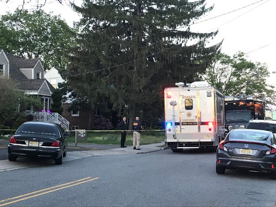 Authorities investigate on Hoffman Street in South Hackensack April 27, 2019.