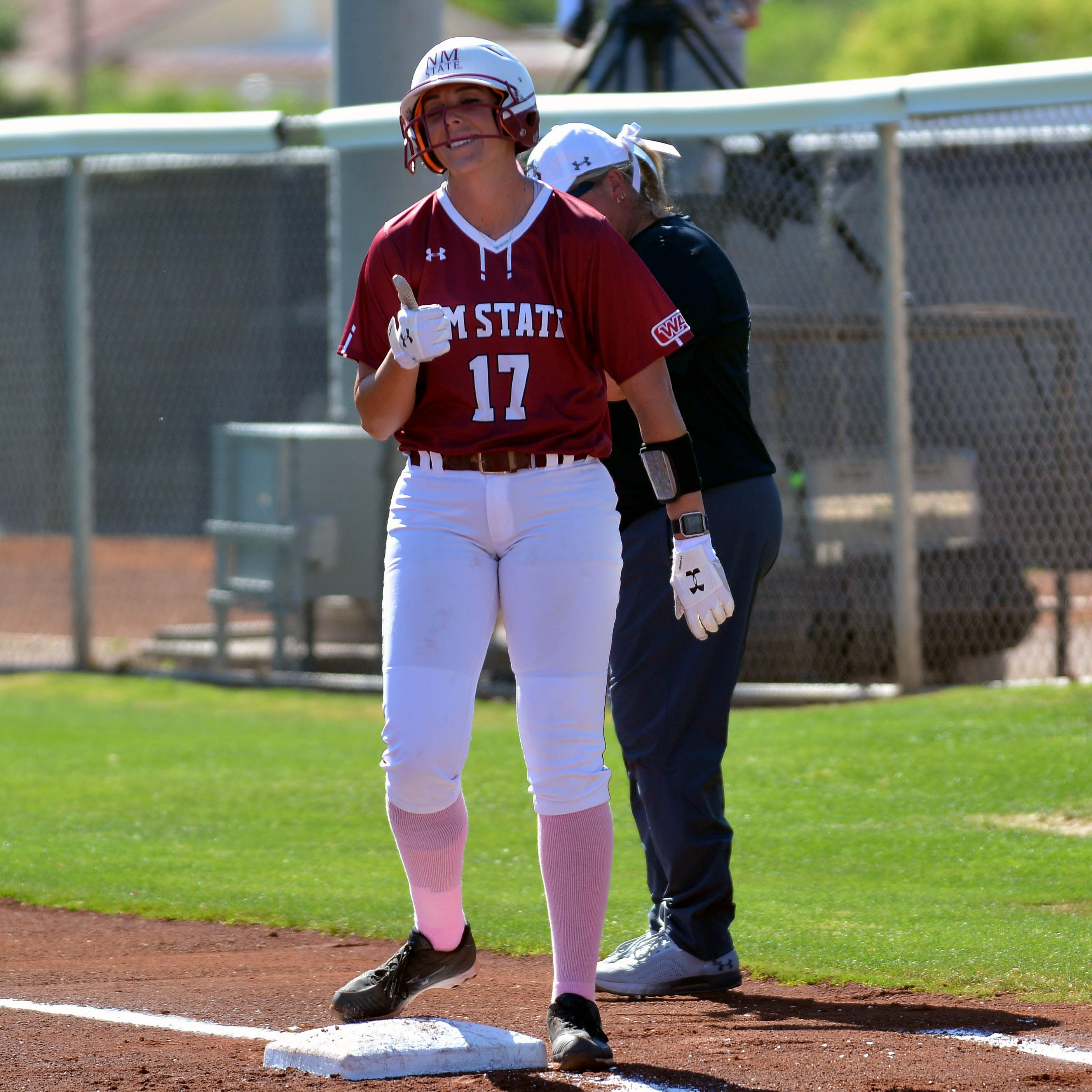 New Mexico State softball sweeps on senior night