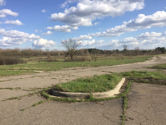 The remnants of the former DeHoco prison are predominantly stretches of asphalt and concrete.