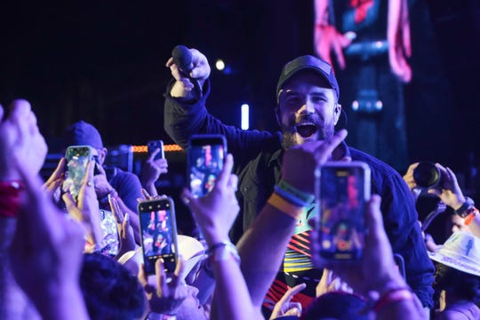 Sam Hunt performs at the Stagecoach country music festival, Indio, Calif., April 27, 2019.