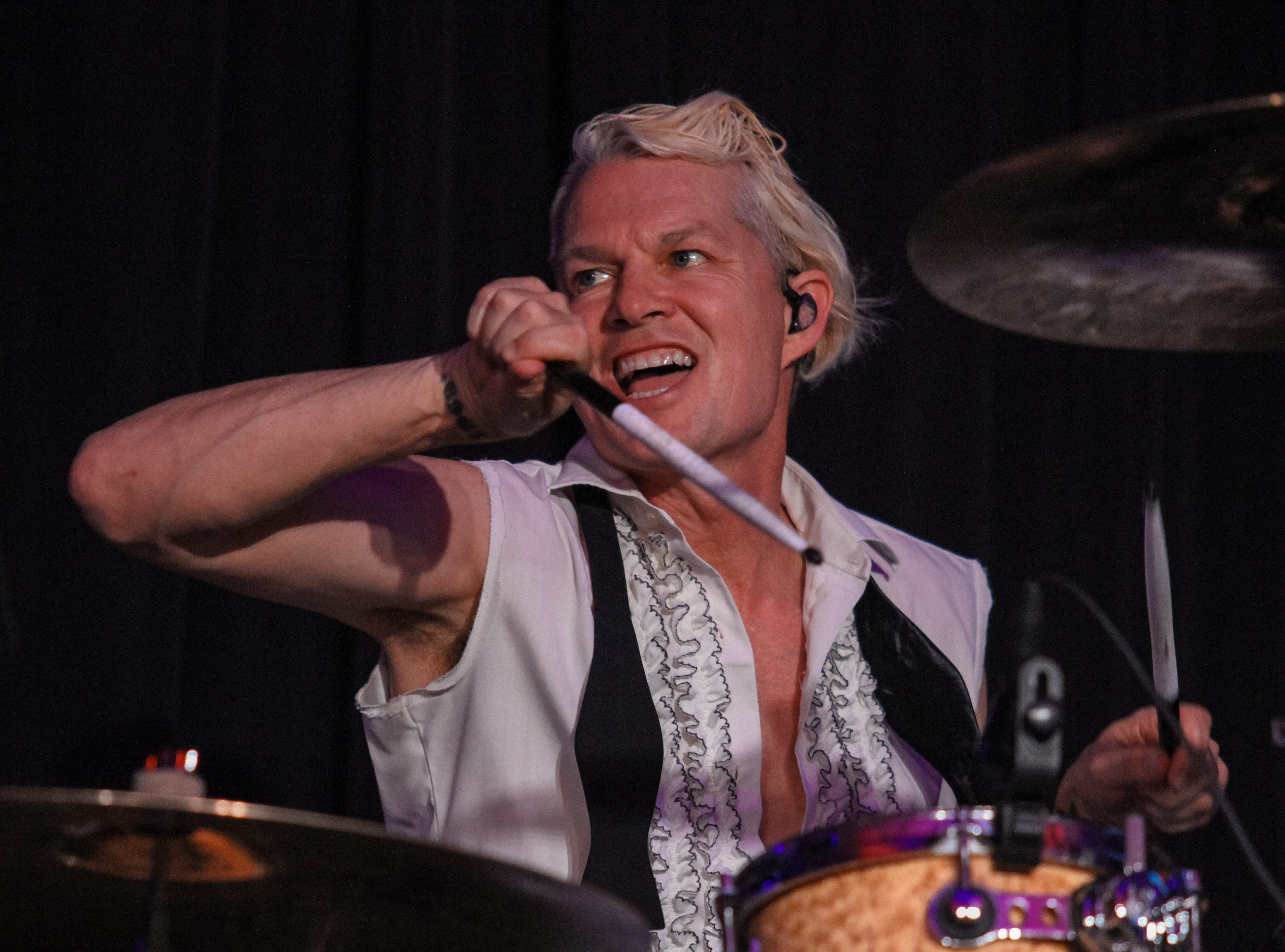 Adrian Young of No Doubt performs at Alice Cooper's Rock & Roll Fundraising Bash at the Las Sendas Golf Club in Mesa on April 27, 2019.