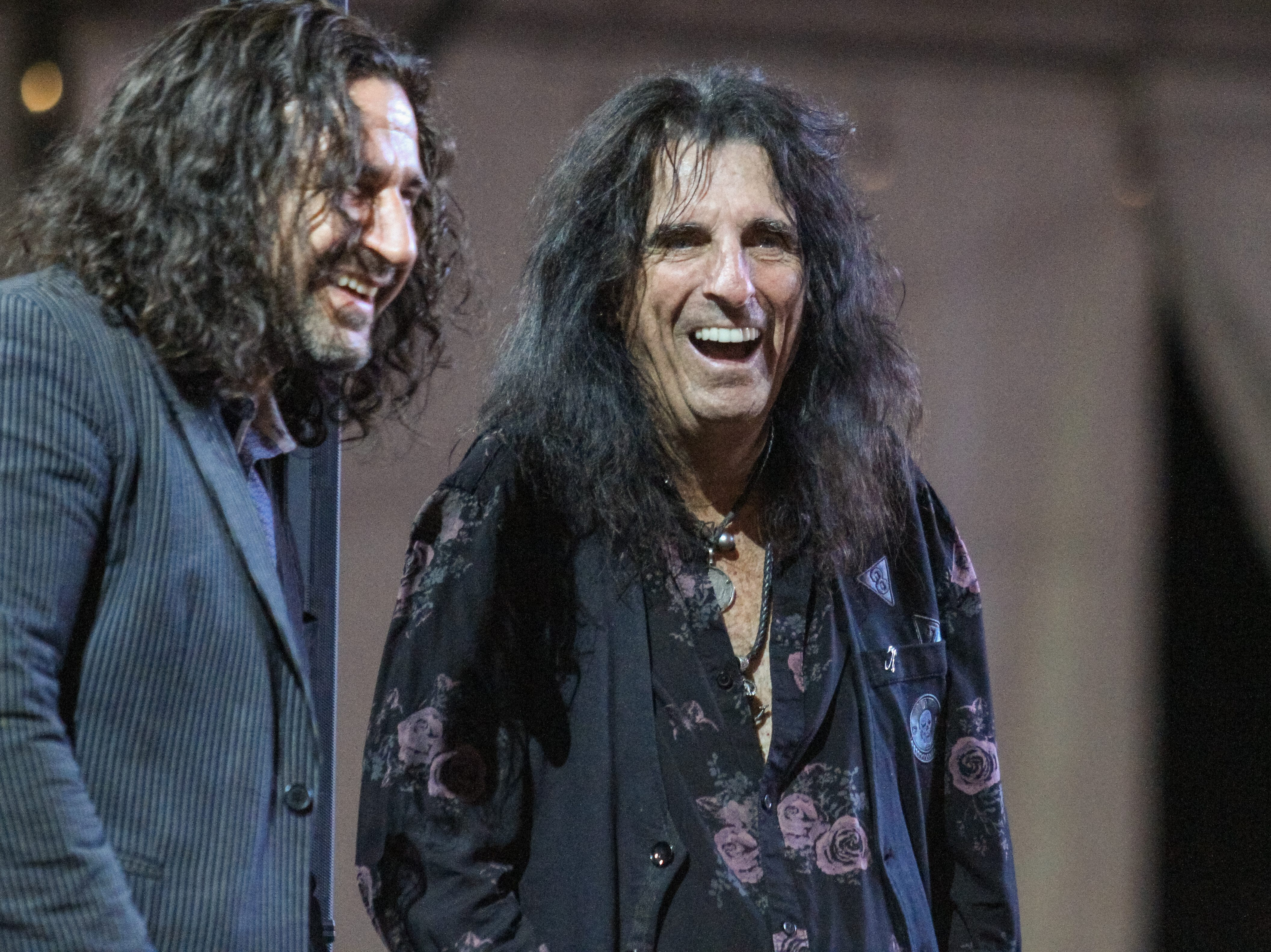 Paintings are auctioned off at Alice Cooper's Rock & Roll Fundraising Bash at the Las Sendas Golf Club in Mesa on April 27, 2019.