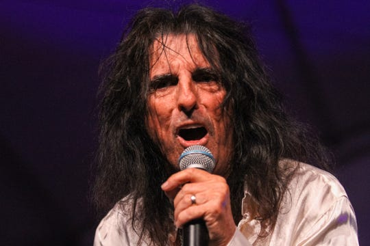 Celebrity Charity: Alice Cooper performs at Alice Cooper's Rock & Roll Fundraising Bash at the Las Sendas Golf Club in Mesa on April 27, 2019.