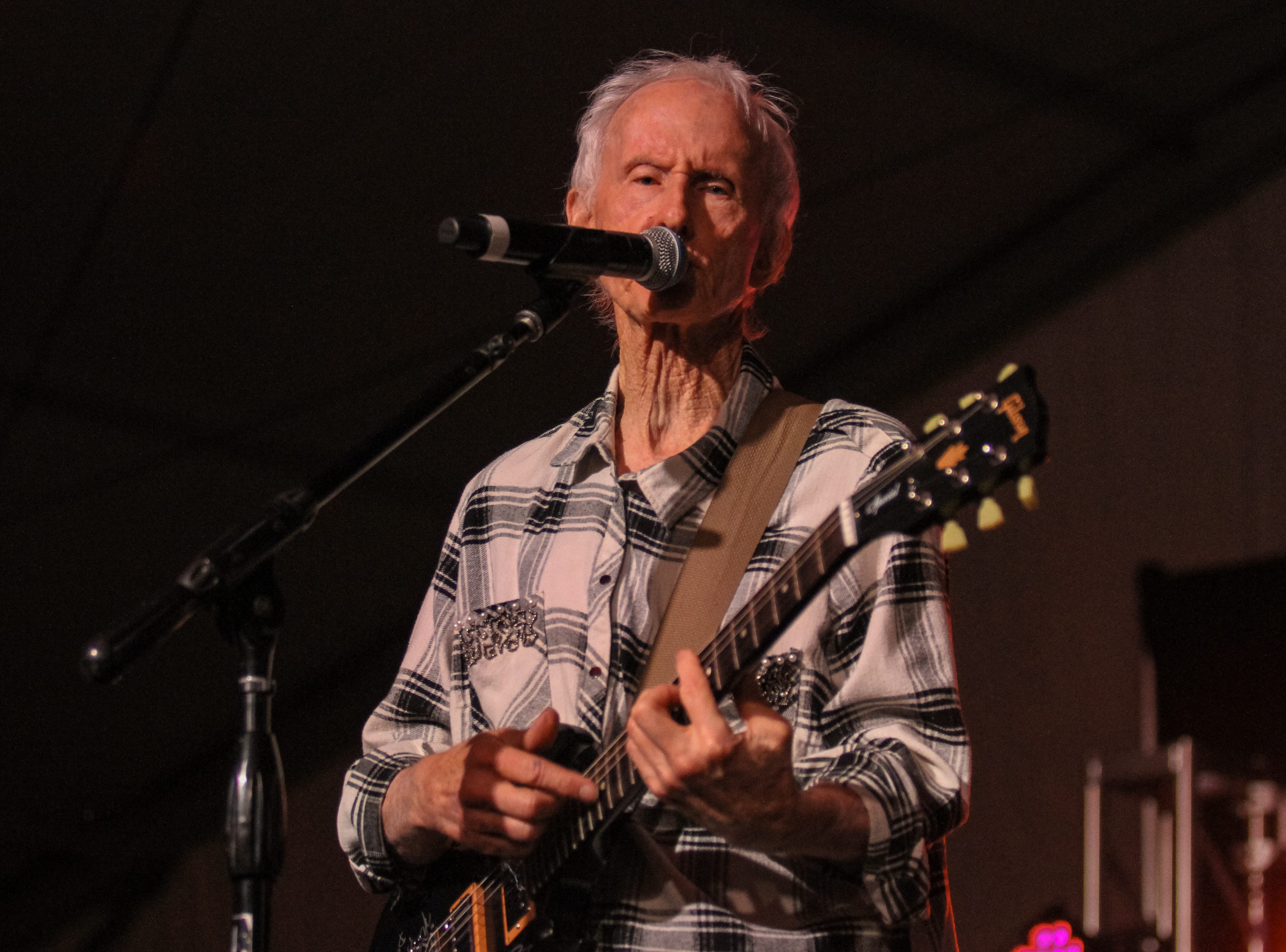 Robby Krieger of The Doors performs at Alice Cooper's Rock & Roll Fundraising Bash at the Las Sendas Golf Club in Mesa on April 27, 2019.