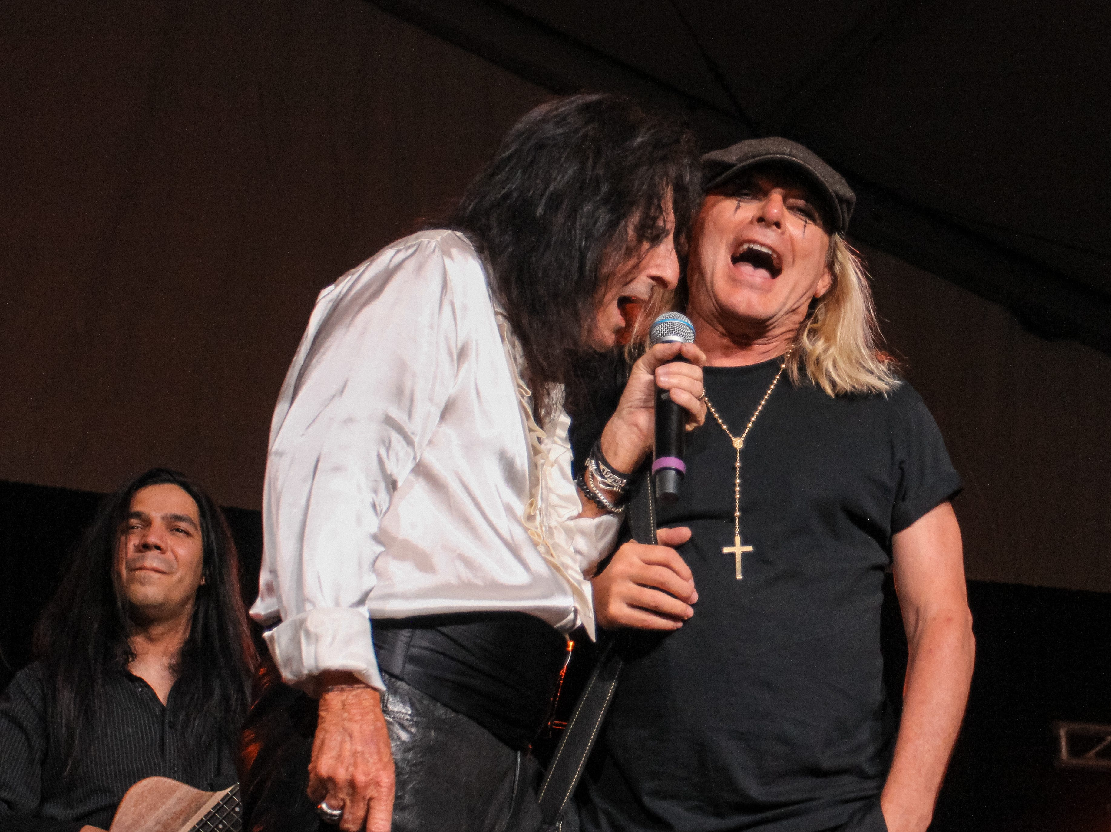 Alice Cooper and Robin Zander of Cheap Trick perform at Alice Cooper's Rock & Roll Fundraising Bash at the Las Sendas Golf Club in Mesa on April 27, 2019.