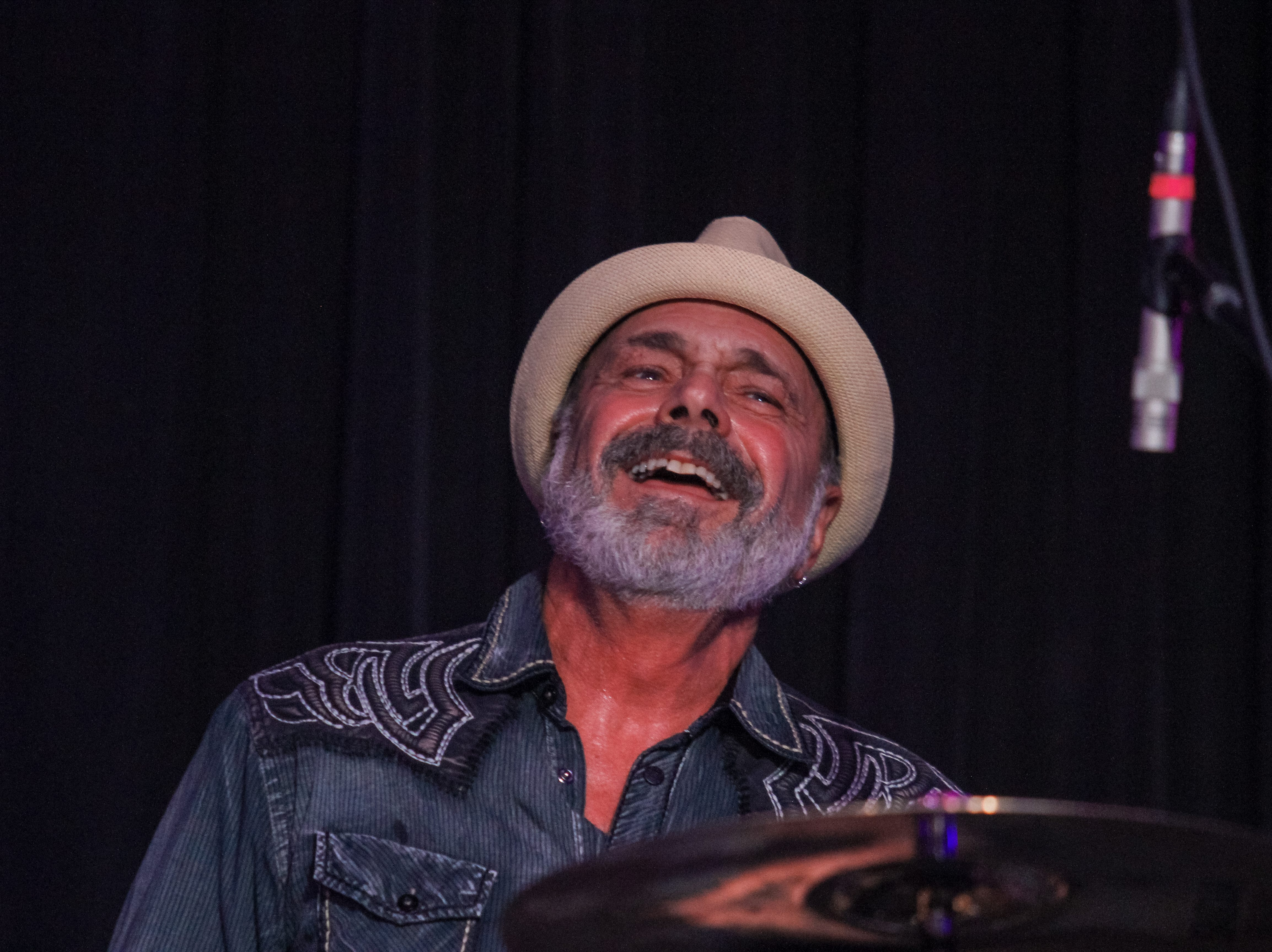 Danny Seraphine of Chicago preforms at Alice Cooper's Rock & Roll Fundraising Bash at the Las Sendas Golf Club in Mesa on April 27, 2019.