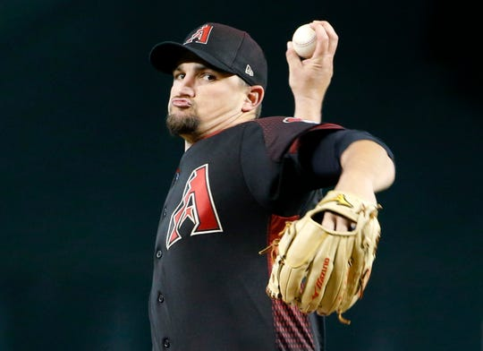 """""""He's won (24) games for this ballclub since I've gotten here, and that's hard to do,""""  Torey Lovullo said of the difficulty of the decision to remove Zack Godley from the rotation."""