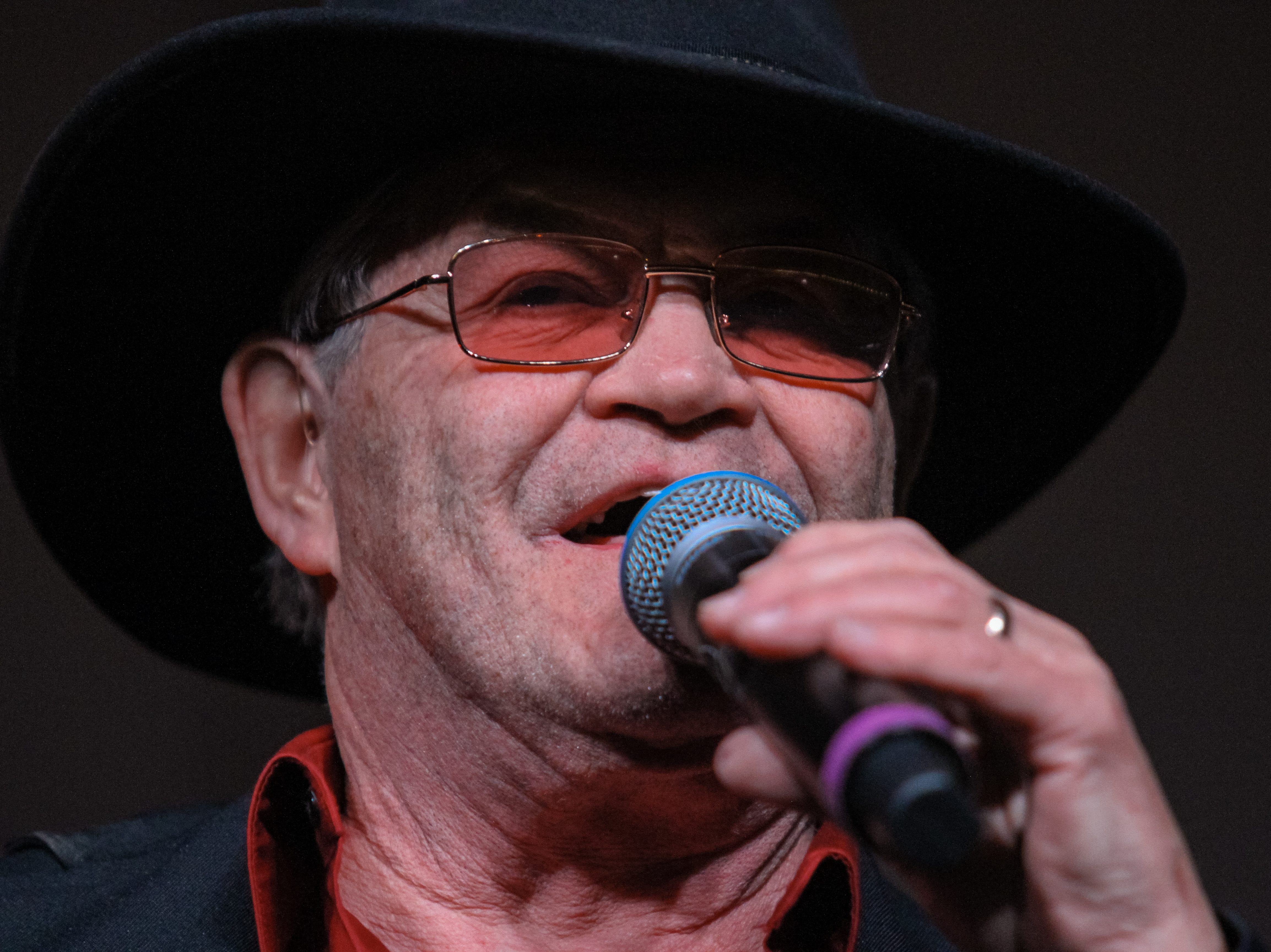 Micky Dolenz of The Monkees performs at Alice Cooper's Rock & Roll Fundraising Bash at the Las Sendas Golf Club in Mesa on April 27, 2019.