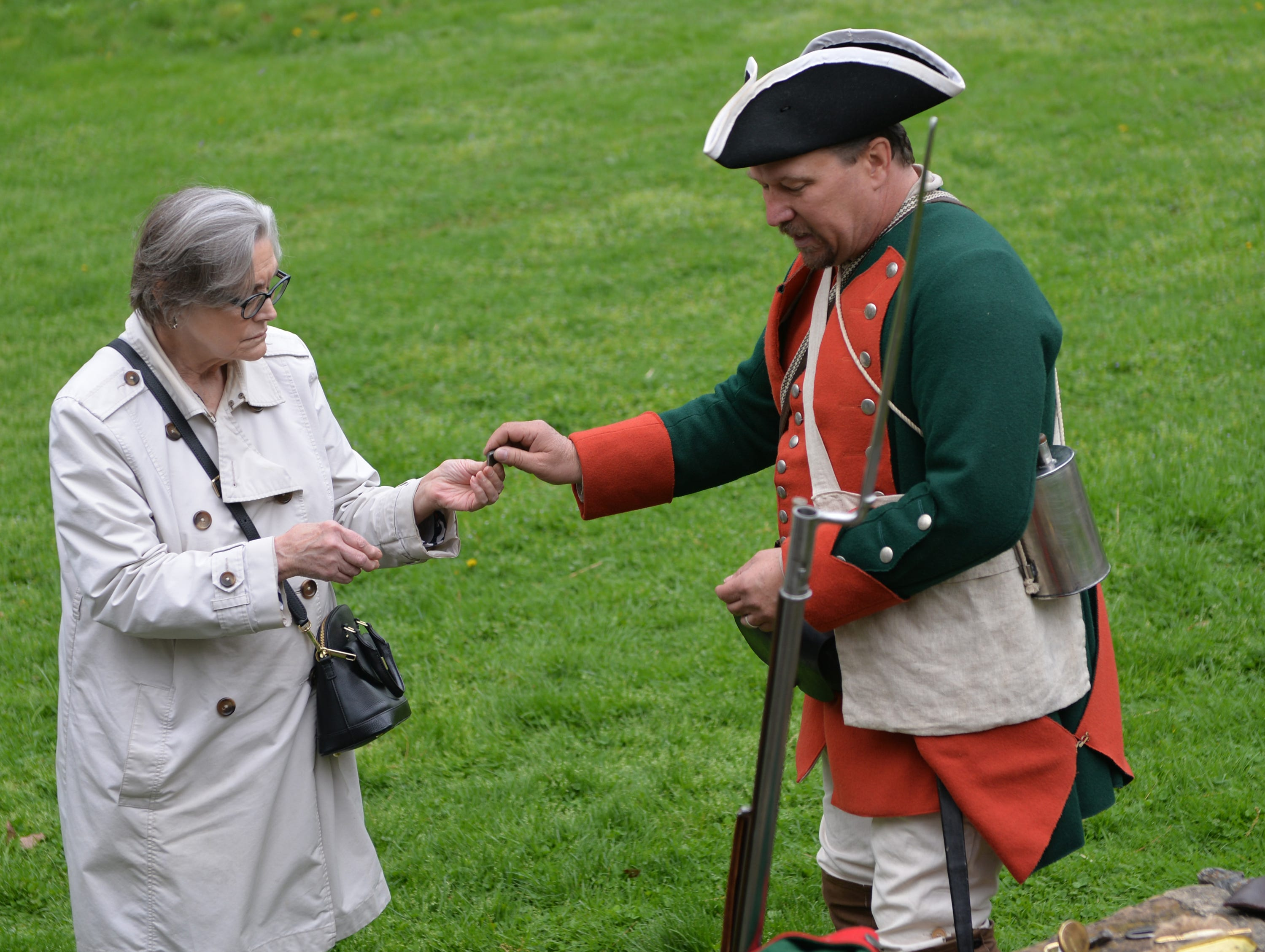 Rick Kramer portrays a soldier in Weiser's Battalion during Making Sense of History, a special living history program that focused on the senses, held at The Conrad Weiser Homestead at Womelsdorf, Pa on Sunday, April 28, 2019.