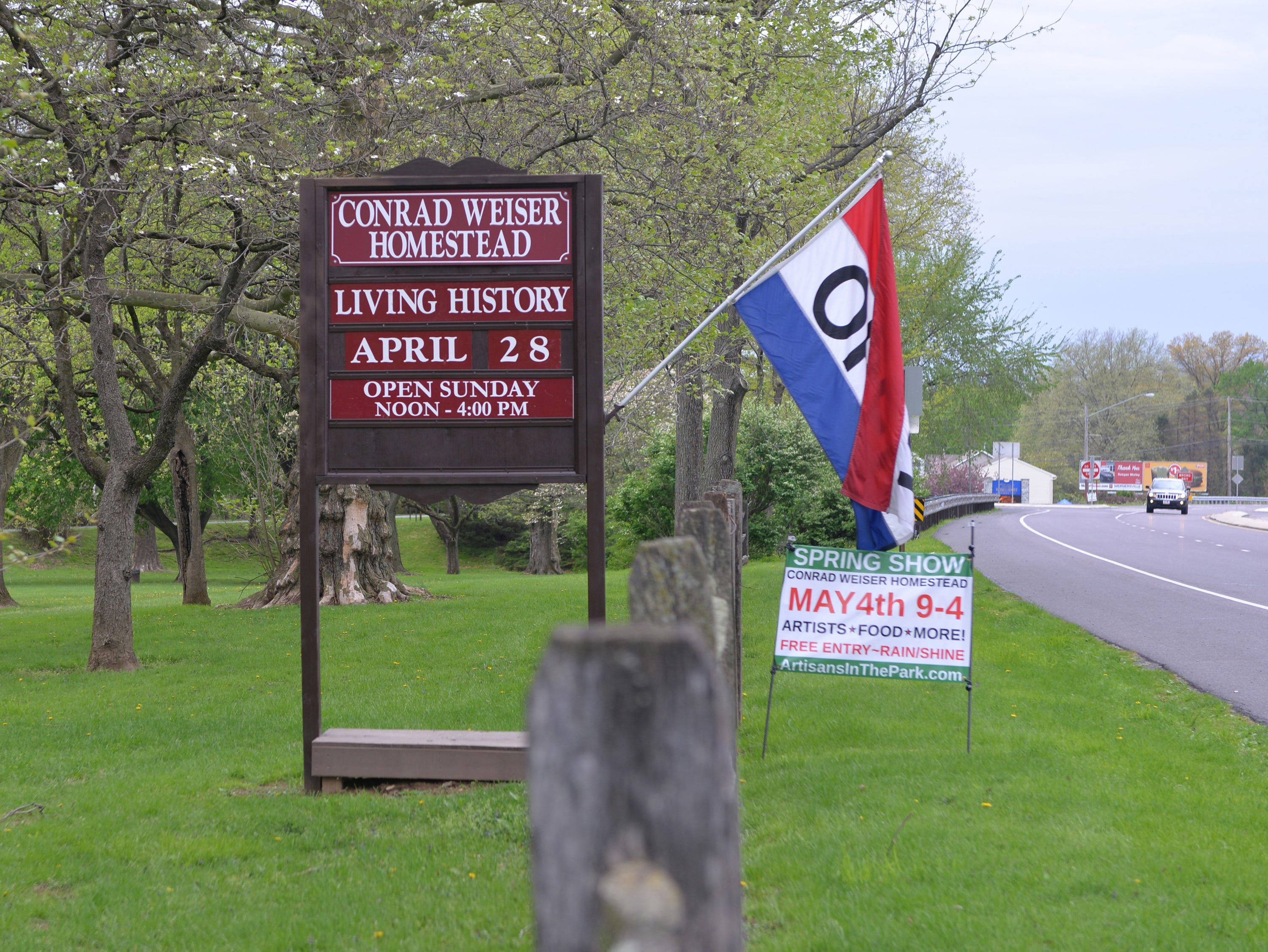 Making Sense of History, a special living history program that focused on the senses, was held at The Conrad Weiser Homestead at Womelsdorf, Pa on Sunday, April 28, 2019.