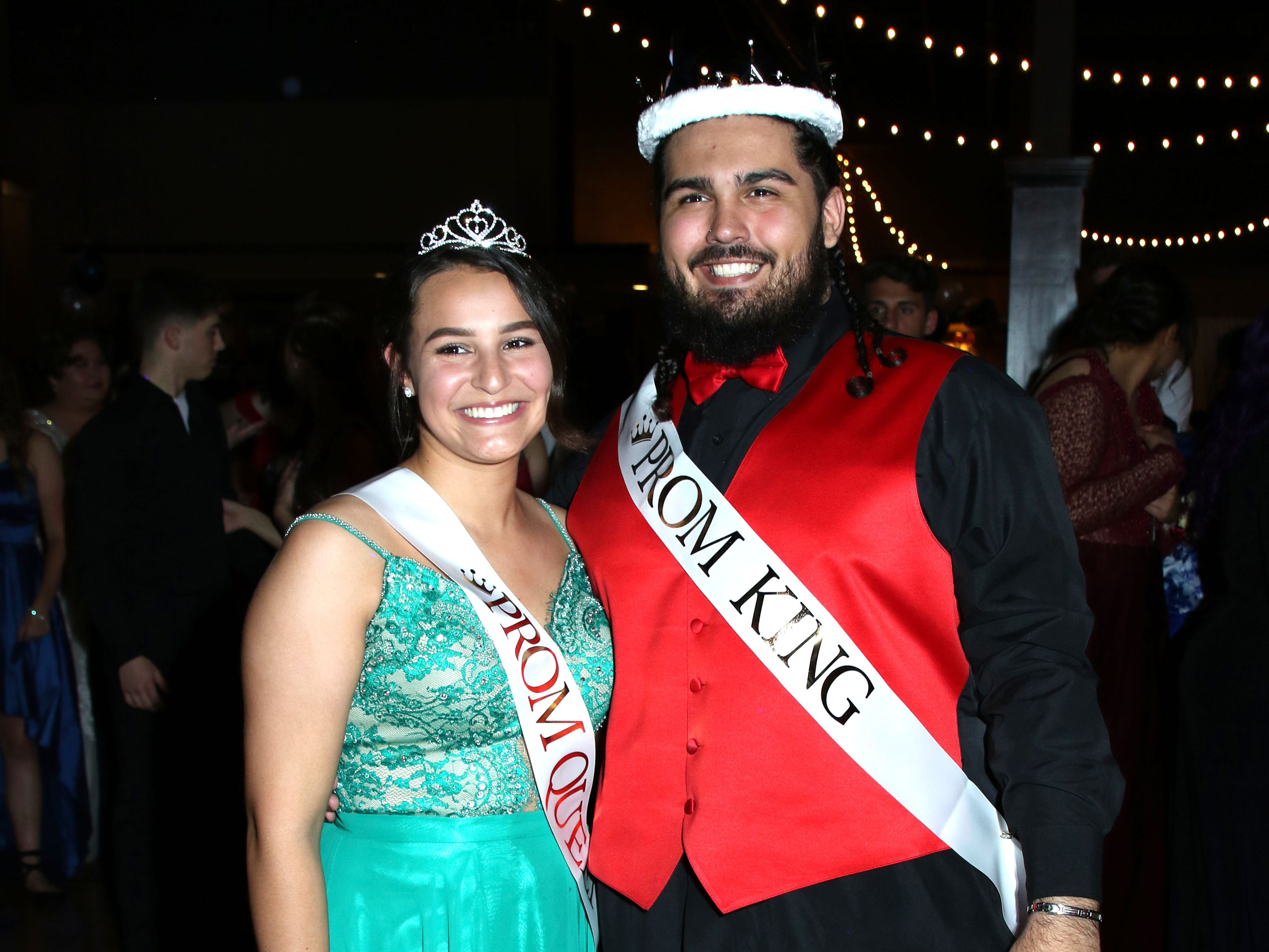 Queen Marisol Fick and King Reece Taylor. Port Clinton's 2019 Prom was held Saturday, April 27th at Lyman Harbor in Sandusky