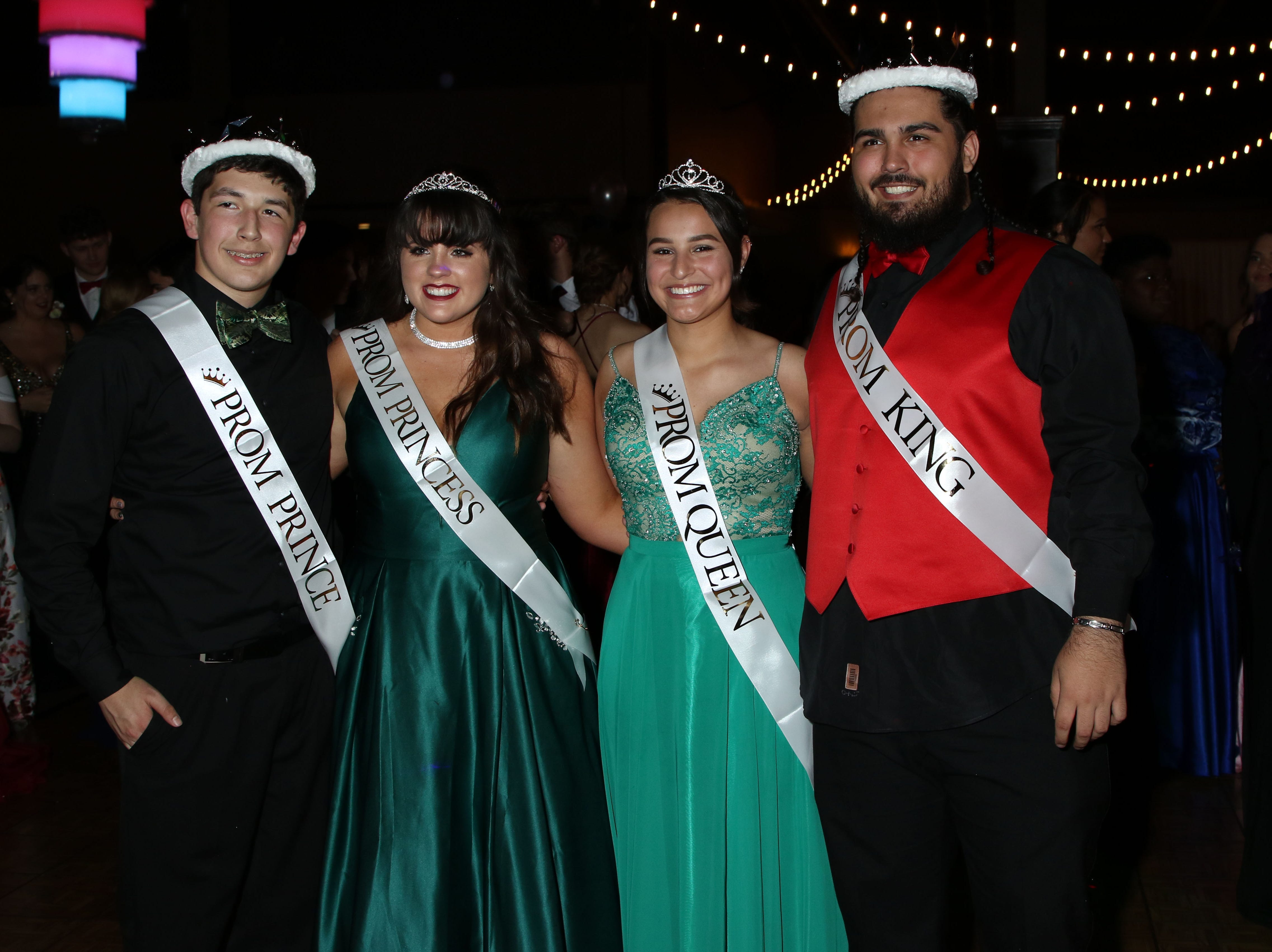 Prince Zayne Manning, Princess Zoe Hines, Queen Marisol Fick, and King Reece Taylor were crowned at Port Clinton's 2019 Prom, held Saturday April 27th at Lyman Harbor in Sandusky.