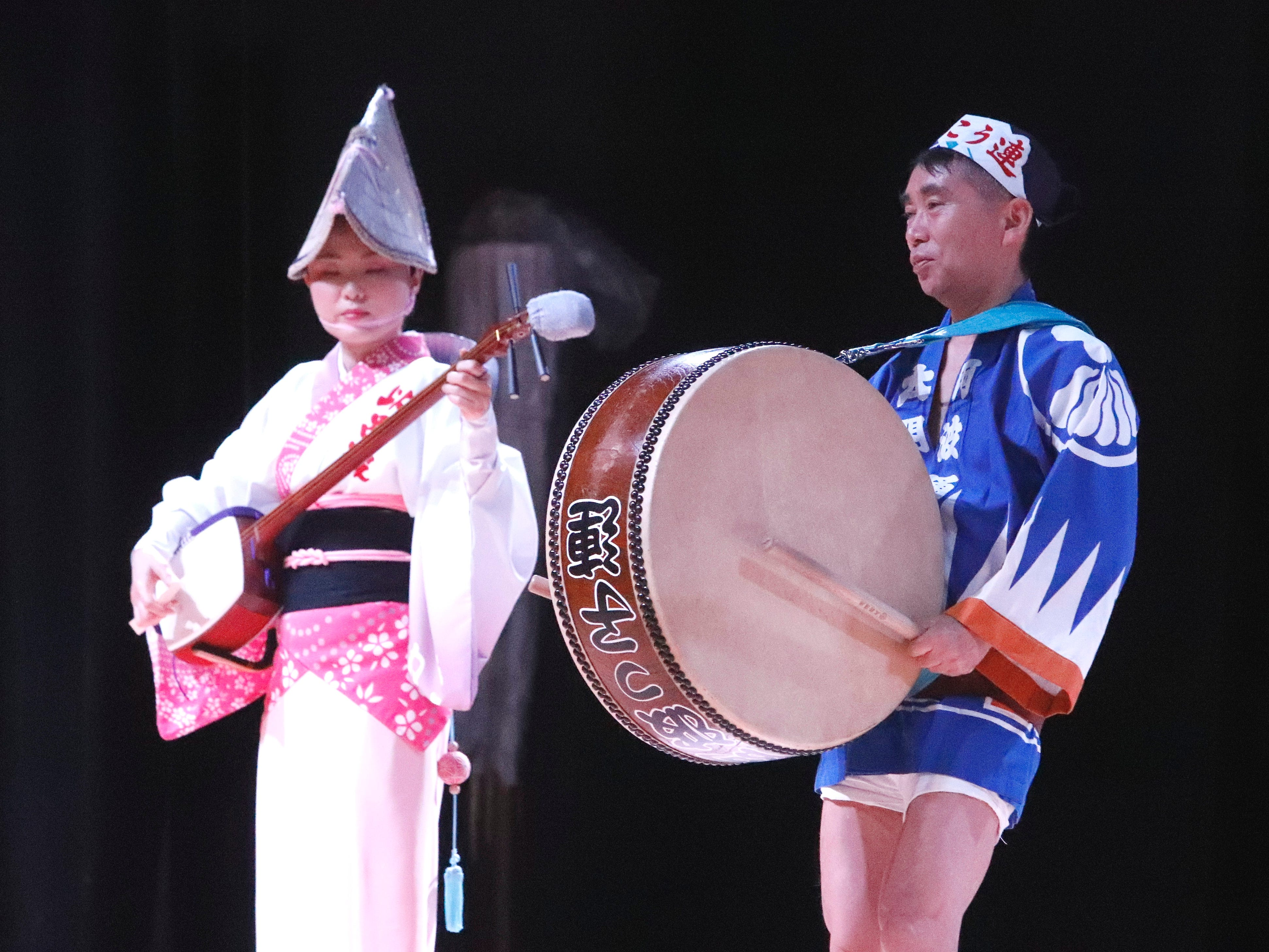 Awa-Odori performance during the Cherry Blossom Festival at Sequoia Middle School in Redding on Saturday, April 27, 2019.