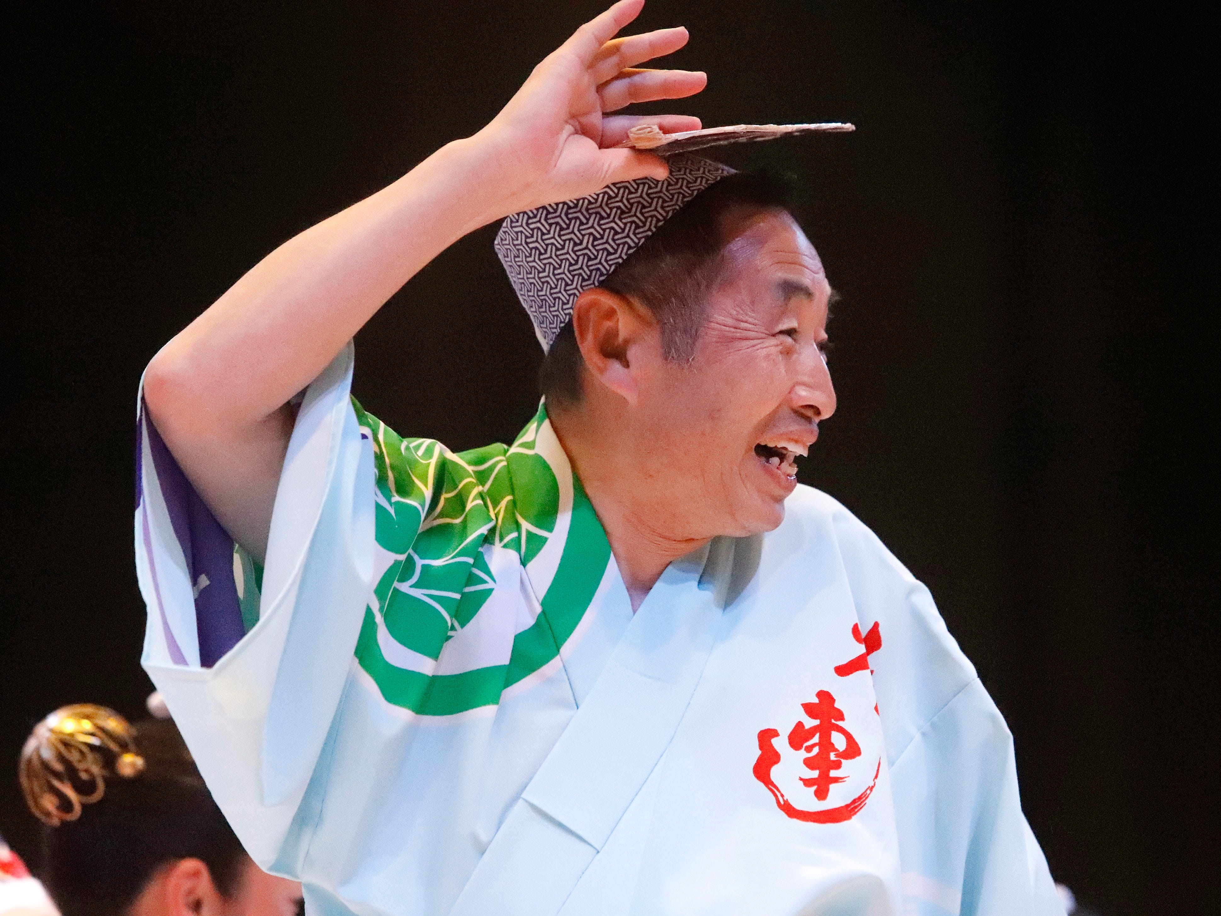 Awa-Odori dance performance during the Cherry Blossom Festival at Sequoia Middle School in Redding on Saturday, April 27, 2019.