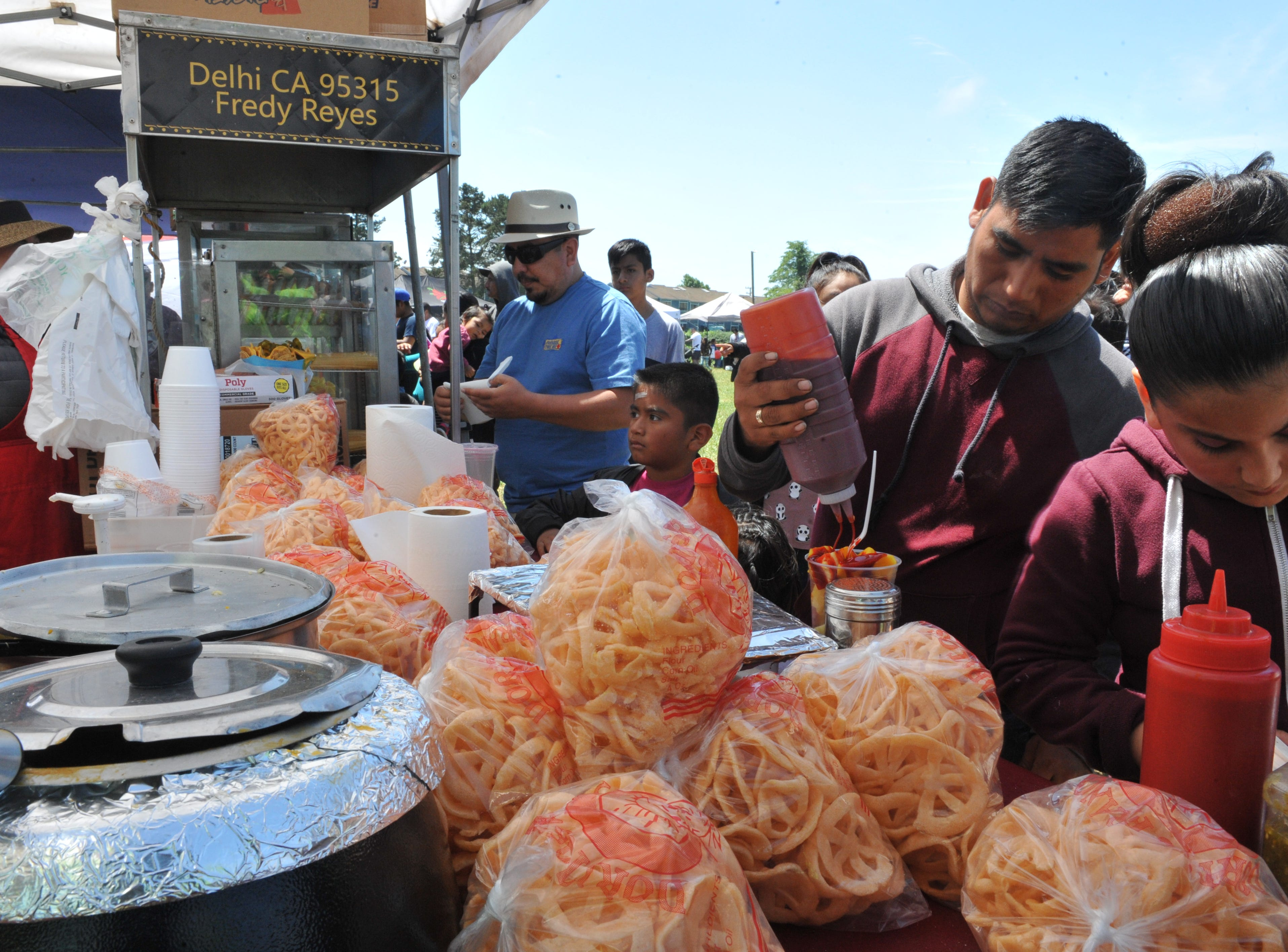 Kings + Queen Beverages from Delhi, Calif. served various snacks and drinks at Salinas' Día Del Niño on April 28, 2019.