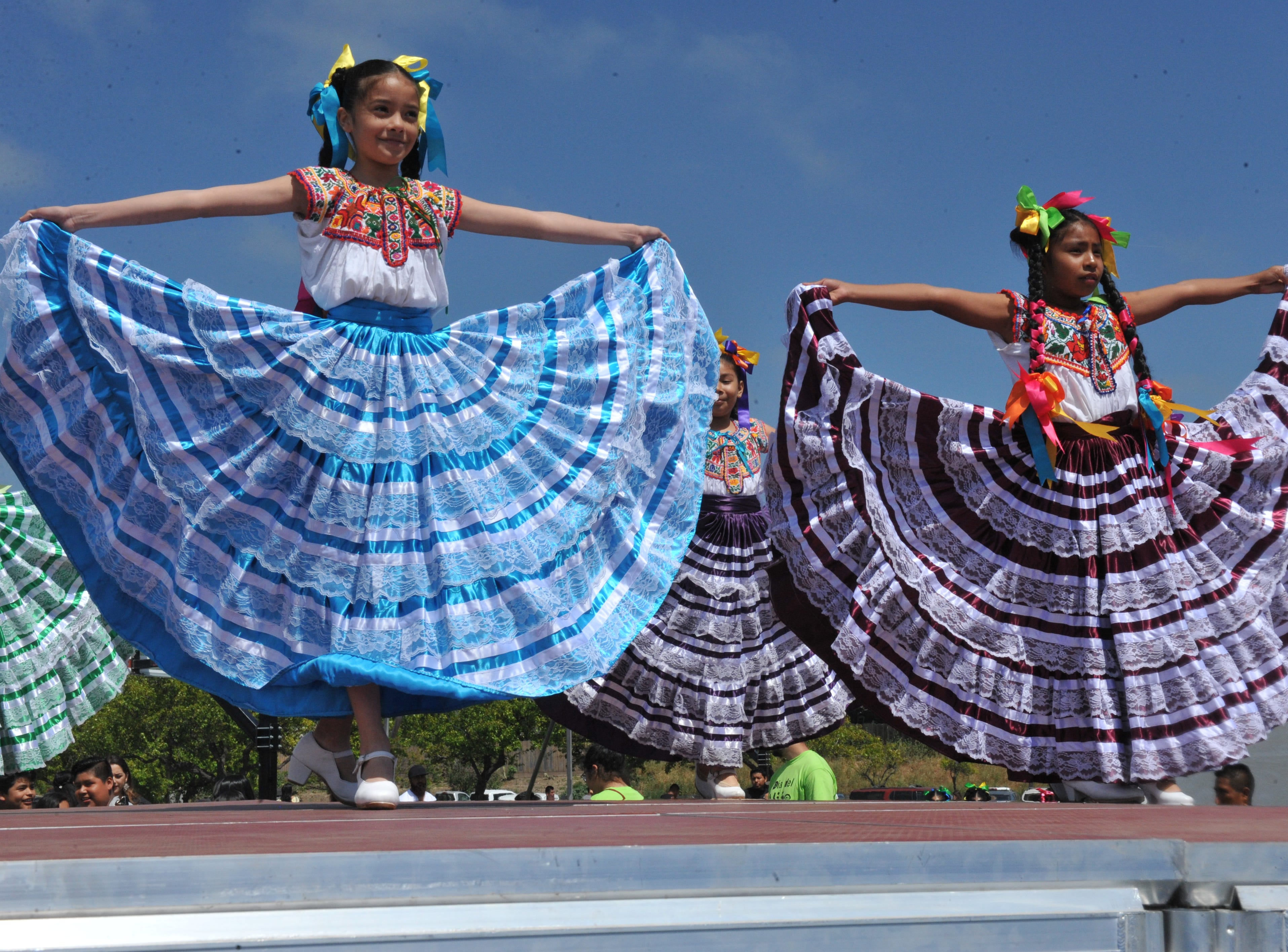 Martin Luther King Jr. Academy students performed baile folklórico at the Salinas Día Del Niño on April 28, 2019.