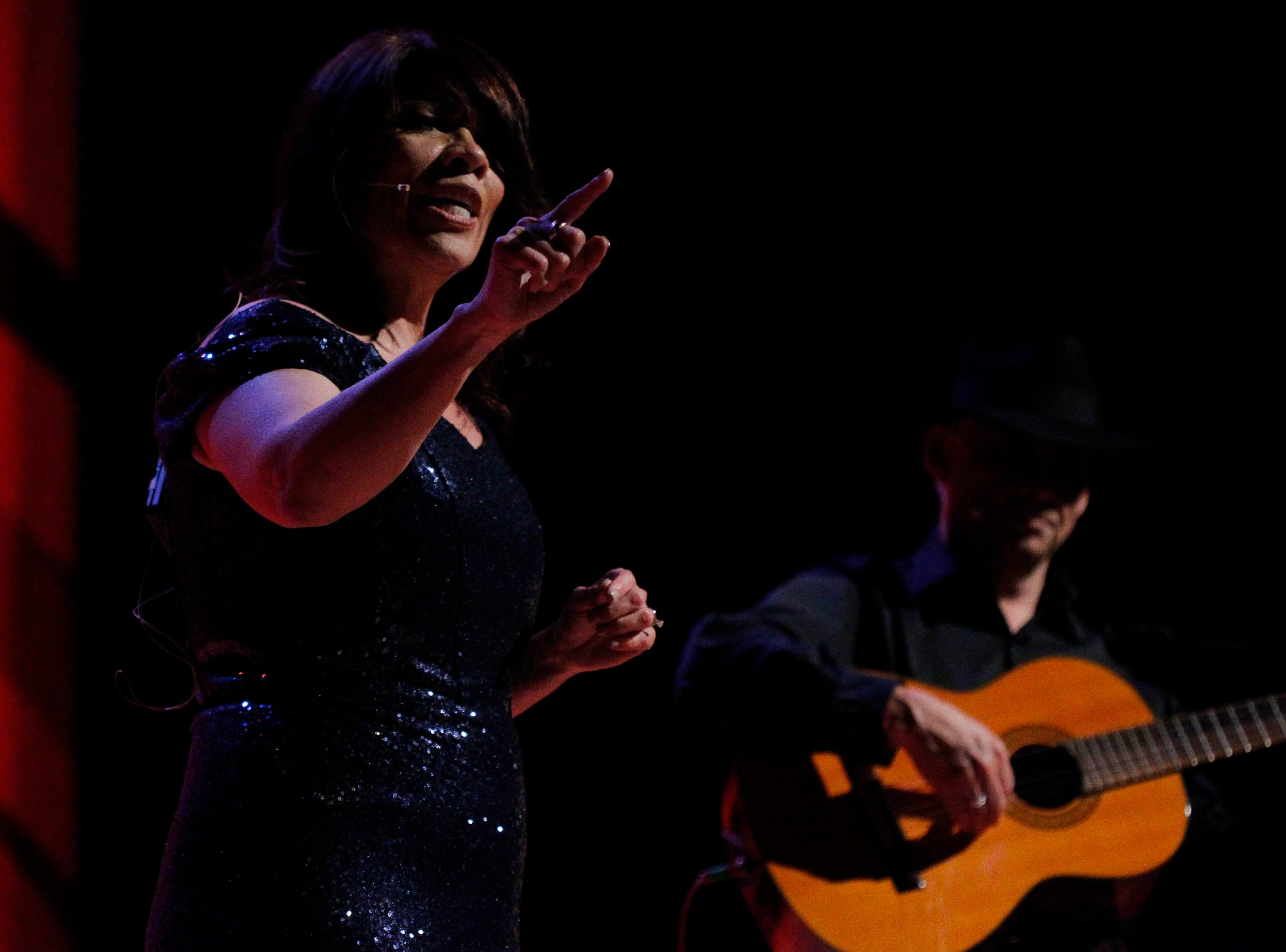 Adele Castillo performs during the 12th annual Noche Bohemia at Sherwood Hall on Saturday, April 27, 2019 in Salinas, Calif.