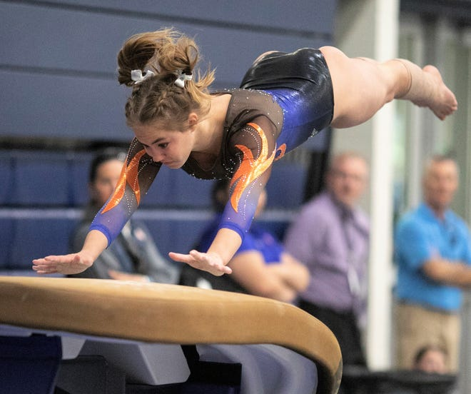 San Angelo Central freshman Madison Vogel was the vault champion and she finished second in the all-around at the Texas High School State Gymnastics Championships in Bryan, Saturday, April 27, 2019. The Lady Cats also won their ninth team title.