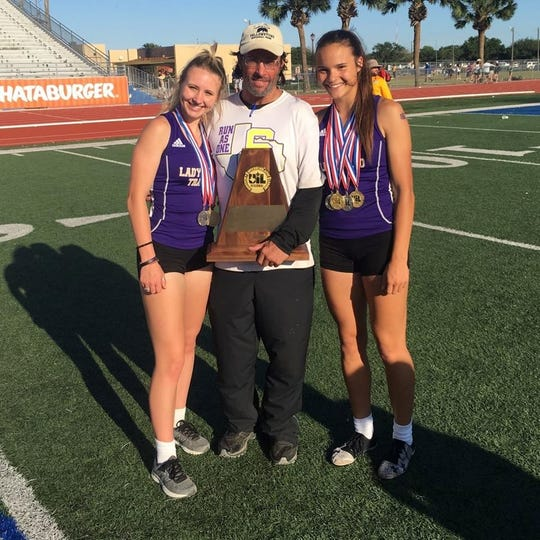 San Saba High School won the girls team title at the Region IV-2A Track and Field Championships Saturday April 27, 2019, in Kingsville.