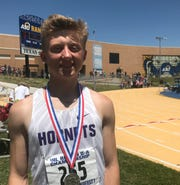 Irion County High School's Riley Gryder  finished second in the boys triple jump at the Region II-1A Track and Field Championships Saturday, April 27, 2019, at Angelo State University.