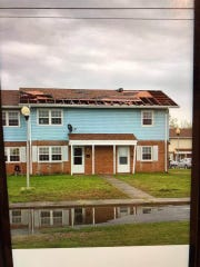 The Somers Cove Apartments in Crisfield experienced straight-line wind damage from a severe thunderstorm that occurred on Friday, April 26, 2019. Courtesy of Somerset County Emergency Services.