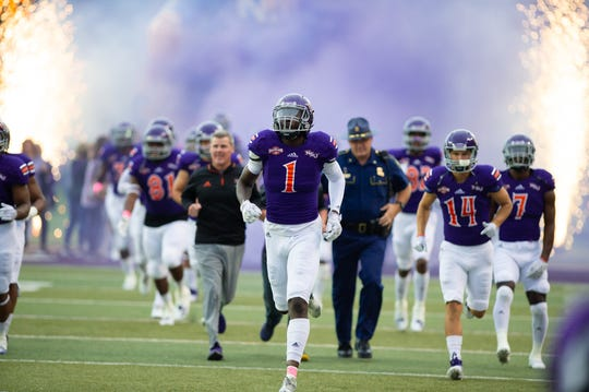 NSU's Jazz Ferguson (1) signed a free-agent deal with the Seattle Seahawks.