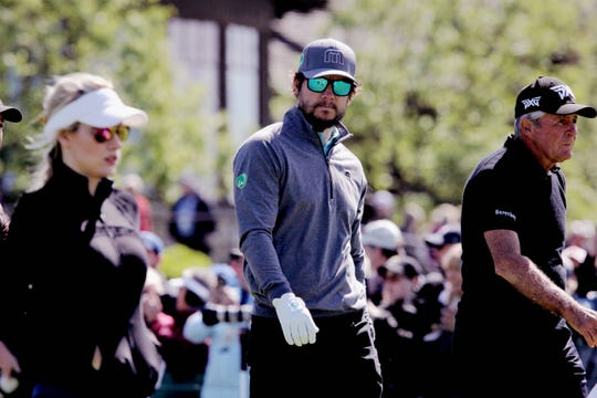 Mark Wahlberg at the second Celebrity Shootout during Bass Pros Legends of Golf Sunday, April 28, 2019.