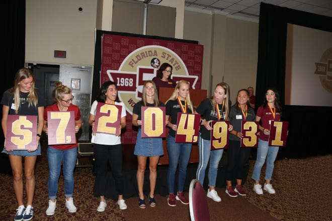 FSU announced that it had raised more than $7 million exclusively towards women's athletics at Saturday's Garnet and Golden Finale.