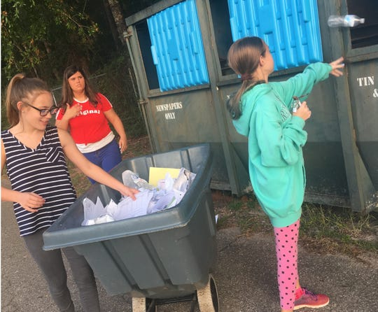 Wakulla Middle School recycles more than a ton of trash.