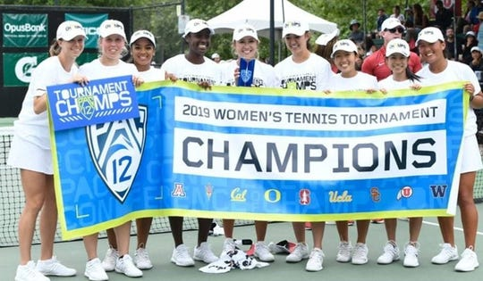 The Stanford women's tennis team won another Pac-12 title at The Ojai on Saturday.
