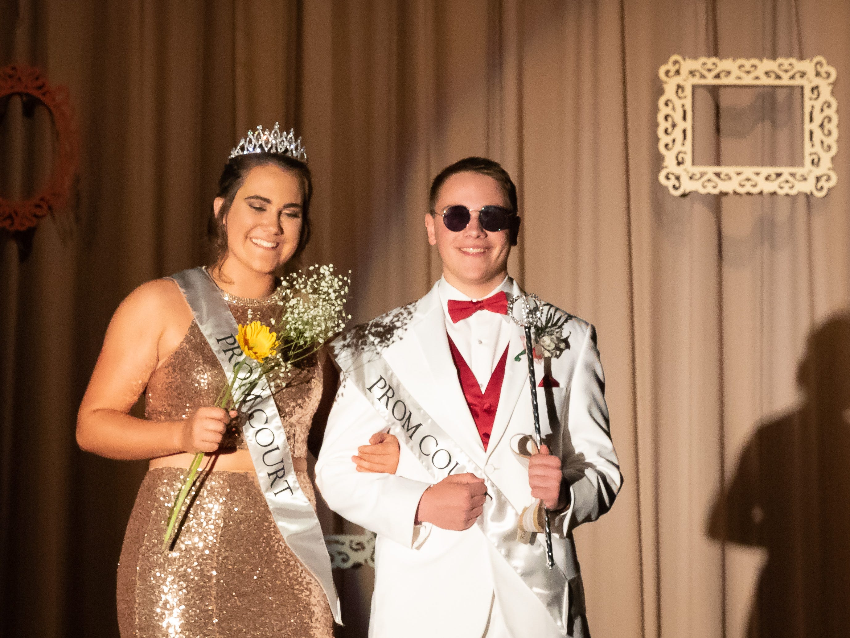 Calli Statz and Jaret Hartley were named prom queen and king during the Assumption High School prom on Saturday, April 27, 2019, at the high school in Wisconsin Rapids.