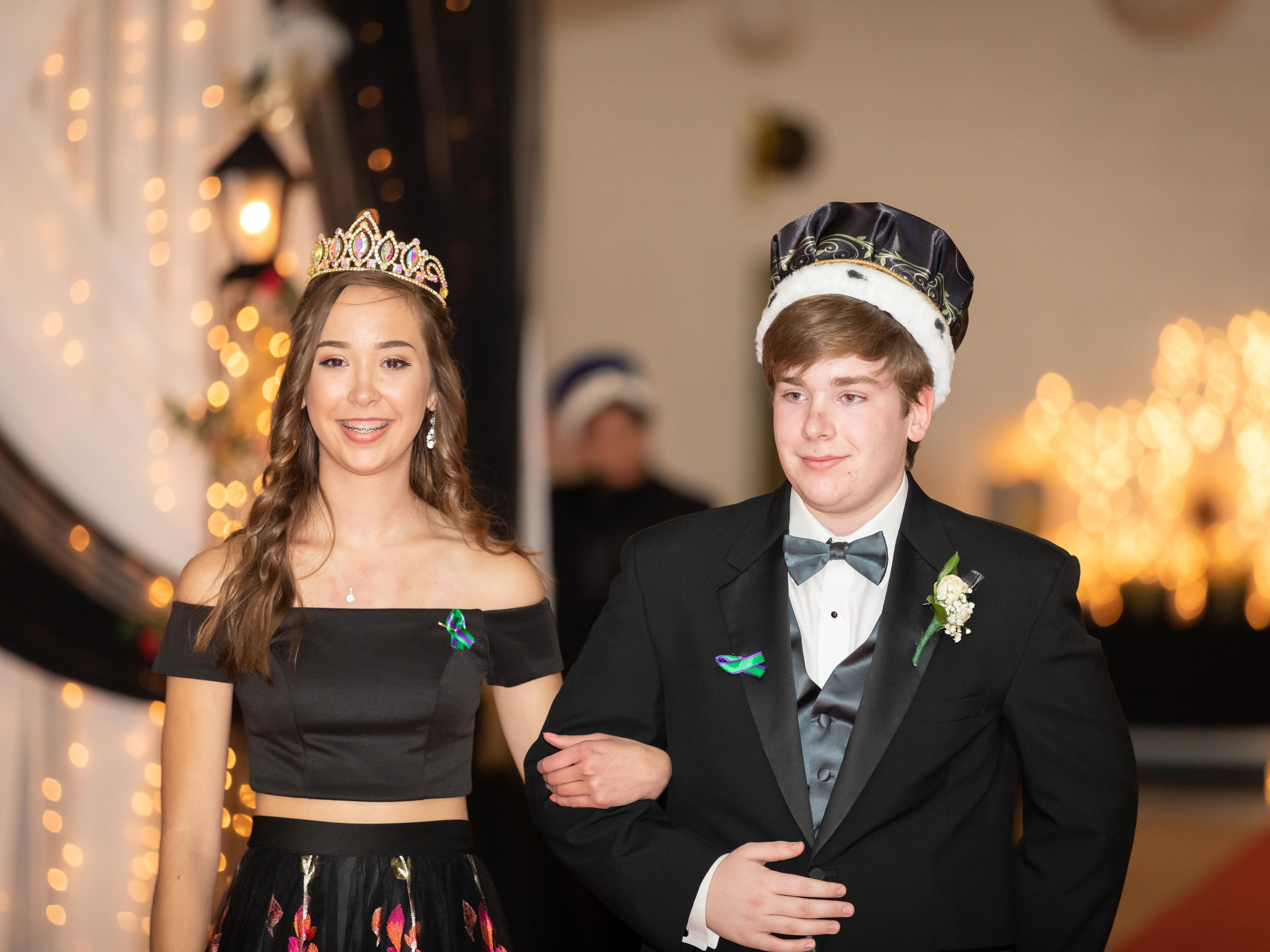 Makenzie Amundson and Jonah Thomas were named queen and king during the Nekoosa High School prom on Saturday, April 27, 2019, at Nekoosa High School.