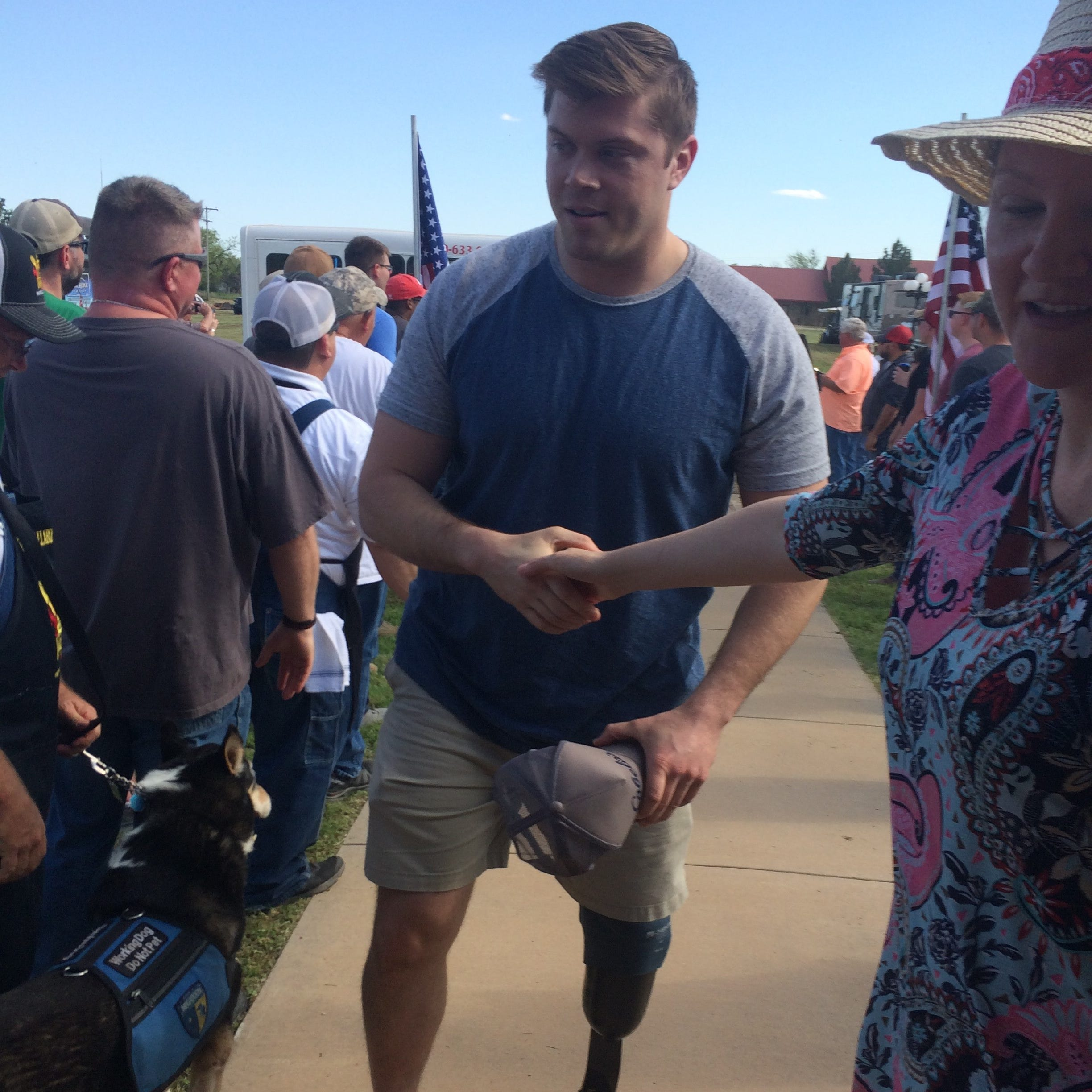 Wounded warriors take aim at annual hog hunt