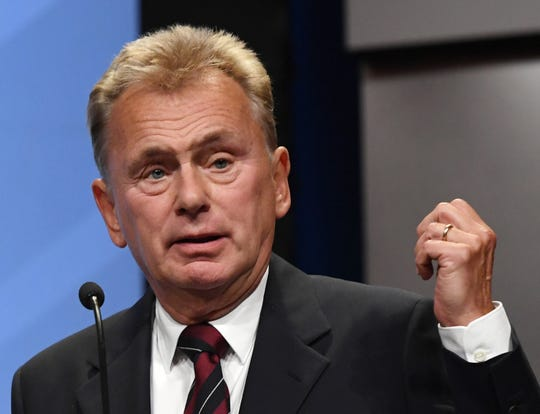 """Wheel of Fortune"" host Pat Sajak on April 9, 2018 in Las Vegas, Nevada."